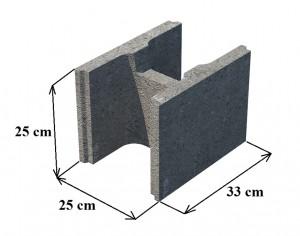 pamatu blokai haus 25cm